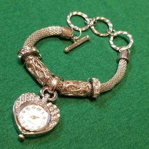 Accessories - Heart Watch Bracelet Charm Silver